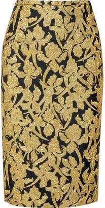 Michael Kors (マイケル コース) - Michael Kors Collection - Metallic Jacquard Skirt - Gold