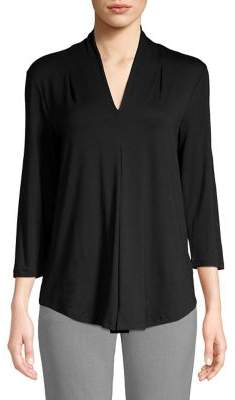 Cable & Gauge Classic V-Neck Top