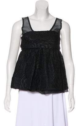MS MIN Sleeveless Jacquard Top w/ Tags
