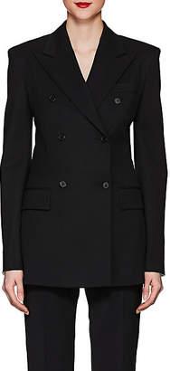 Calvin Klein Women's Wool-Blend Double-Breasted Blazer - Black