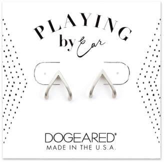 Dogeared Playing By Ear Silver Earrings