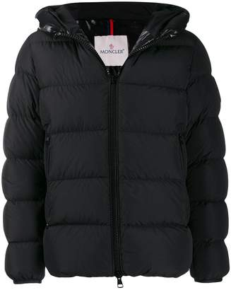 Moncler Dubois logo-print padded puffer coat