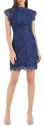 Cooper St Avery High Neck Lace Minidress