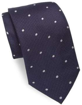 Brioni Dotted Narrow Silk Tie