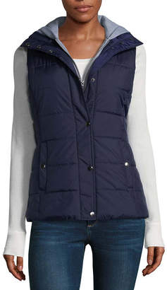 8f4f6b83d76 at JCPenney · Arizona Puffer Vest With Hood-Juniors
