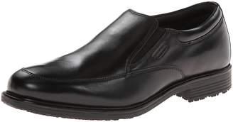 Rockport Men's Lead the Pack Slip-On Black WP Leather 10 M (D)