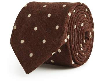 Reiss Our last order date for Christmas has now passed KAY POLKA DOT TIE Rust