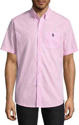 U.S. Polo Assn. USPA Short Sleeve Checked Button-Front Shirt