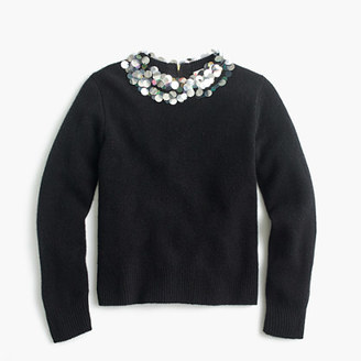 Girls' wool popover sweater with embellished collar $68 thestylecure.com
