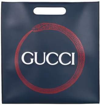 Gucci Shopping Snake Leather Bag