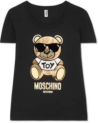 Moschino - Printed Cotton-jersey T-shirt - Black