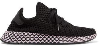 adidas Deerupt Runner Suede-trimmed Mesh Sneakers - Black