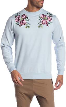 Soul Star Rose Embroidered Pullover