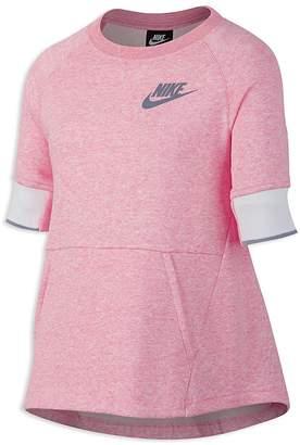 Nike Girls' Heathered Fleece Sweatshirt - Big Kid