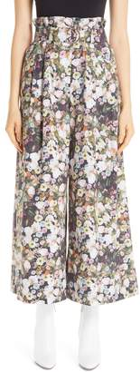 ADAM by Adam Lippes Floral Poplin Paperbag Waist Pants
