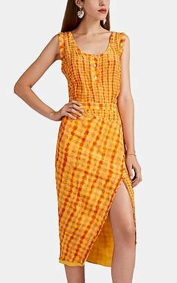 Altuzarra Women's Eleonora Gingham Silk Dress - Pollen