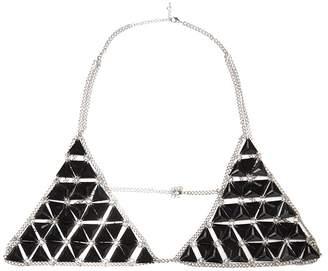 Quiz Black Triangle Gem Bralet