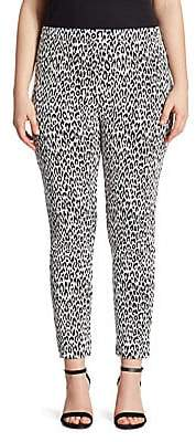 Joan Vass Women's Animal-Print Jacquard Leggings