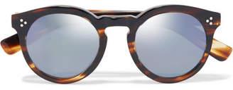 Illesteva - Leonard Ii Round-frame Acetate Mirrored Sunglasses - Brown $240 thestylecure.com