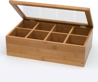 Lipper Bamboo 8-Section Tea Box