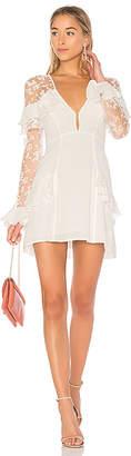 For Love & Lemons Rosebud Embroidery Mini Dress