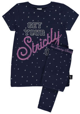 George Strictly Come Dancing Navy Sequinned Pyjamas