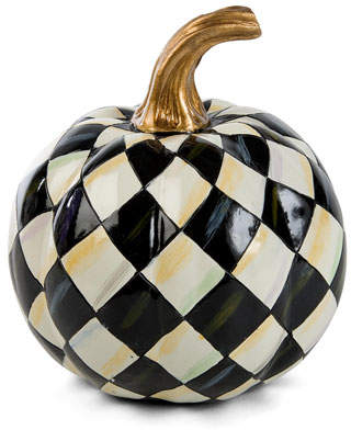 Mackenzie Childs MacKenzie-Childs Courtly Harlequin Mini Pumpkin