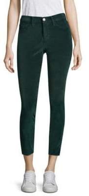 Joie Velvet Cropped Skinny Pants