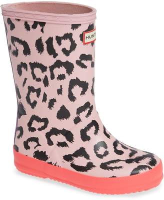 Hunter Leopard Waterproof Rain Boot