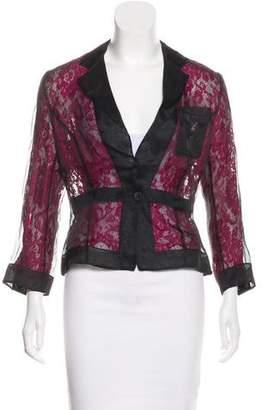 Dolce & Gabbana Sheer Lace Blazer