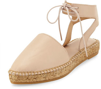 Andre Assous Vanessa Leather Espadrille Flat, Nude $179 thestylecure.com