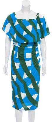 Tracy Reese Patterned Midi Dress w/ Tags