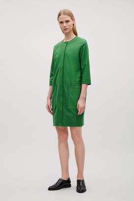 Cos TOPSTITCHED COCOON WOOL DRESS