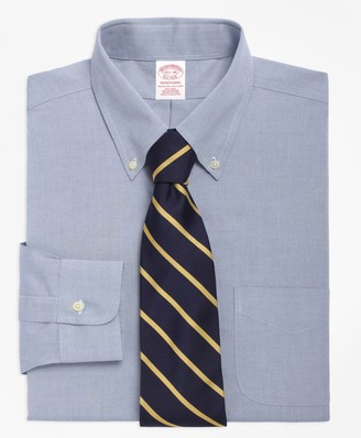 Brooks Brothers Traditional Relaxed-Fit Dress Shirt, Non-Iron Button-Down Collar