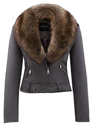 Bellivera Women's Faux Suede Short Jacket