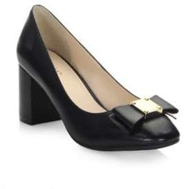 Cole Haan Women's Tali Bow Leather Pumps - Black - Size 40 (10)