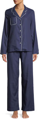 Derek Rose Lombard Classic Piped Pajama Set