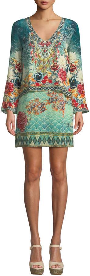 Her Heirloom Silk Printed Long-Sleeve Tunic