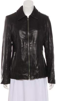 MICHAEL Michael Kors Zip-Up Leather Jacket