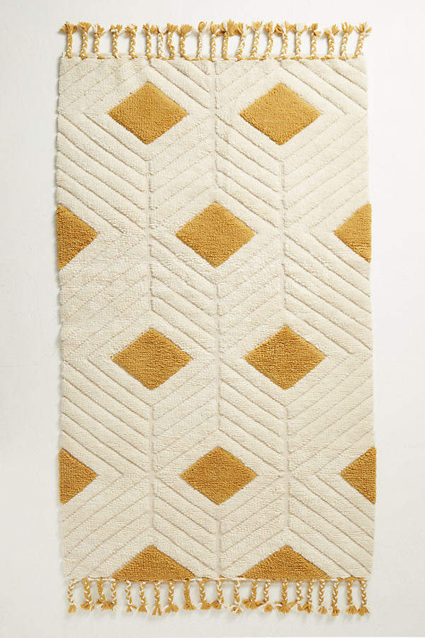 Ripple Teppich mit Rautenmuster - Gold