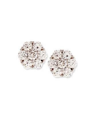 Memoire Diamond Flower Cluster Earrings, 1.46 tdcw