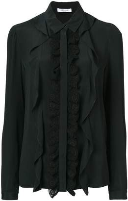 Blumarine ruffle and lace-trimmed shirt