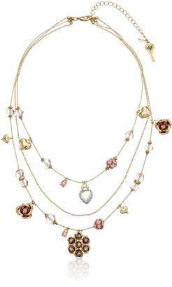 Betsey Johnson Cherry Bead Illusion Necklace