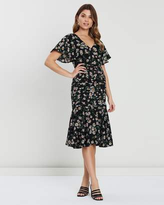 Atmos & Here Franky Ruffle Midi Dress