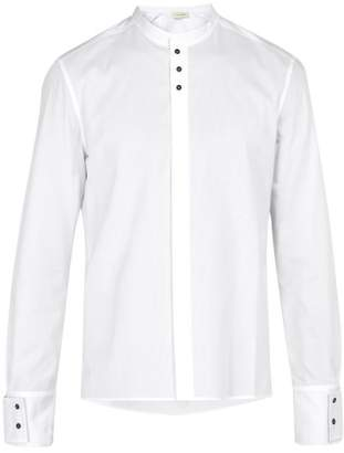 Wales Bonner Collarless Cotton Shirt - Mens - White