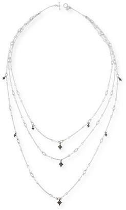 Armenta New World Triple-Strand Crivelli Necklace with Diamonds