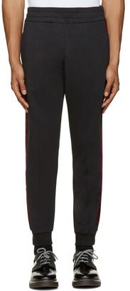 Alexander McQueen Black Velvet Trim Lounge Pants $845 thestylecure.com