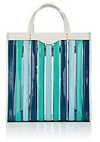 Anya Hindmarch Women's Striped Patent Leather Tote Bag - Aqua