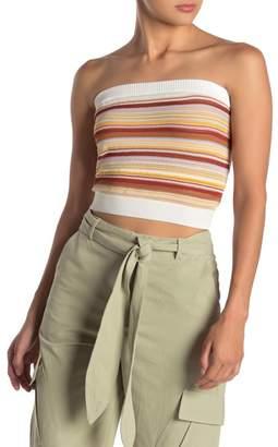 SKYLAR ROSE Multi Stripe Knit Tube Top