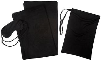 A & R Cashmere A&R Cashmere Cashmere-Blend Travel Set - Black - a&R Cashmere